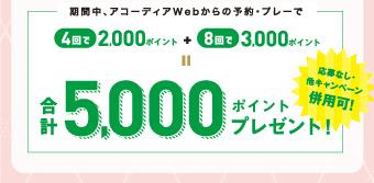 合計5,000ポイントプレゼント